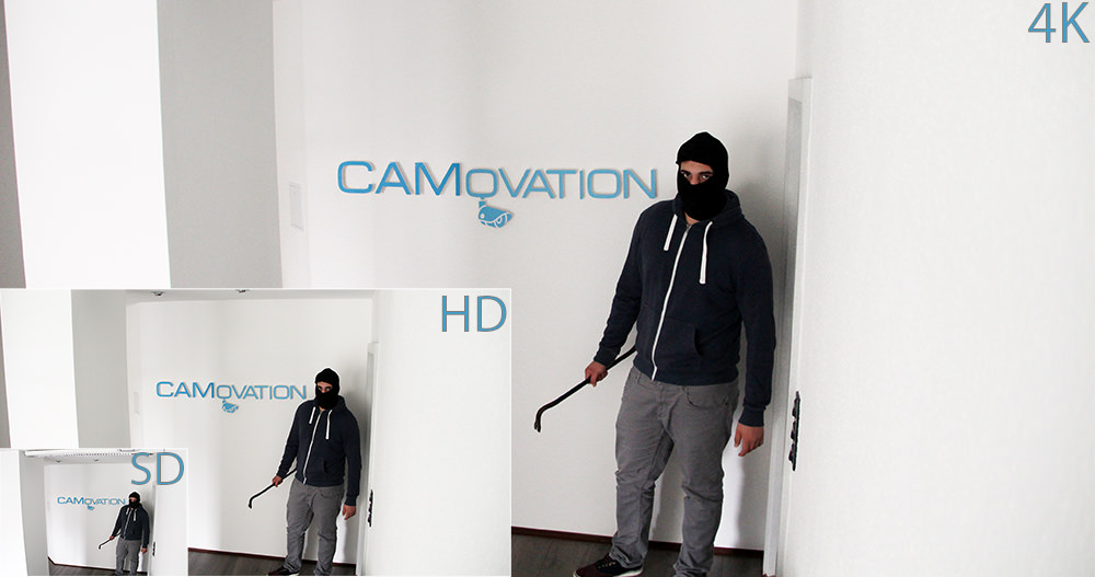 Vergleich von SD/HD/4k Kameras